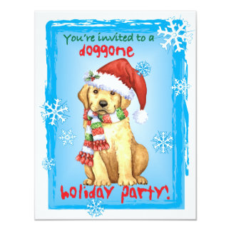Happy Howlidays Yellow Lab Card