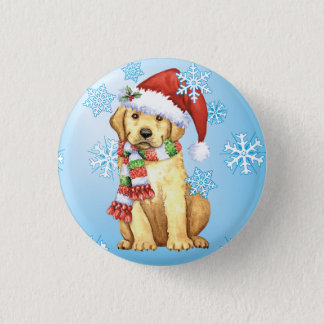 Happy Howlidays Yellow Lab Pinback Button