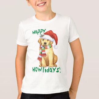 Happy Howlidays Yellow Lab T-Shirt