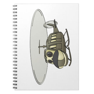 Happy Huey Helicopter Cartoon Notebook