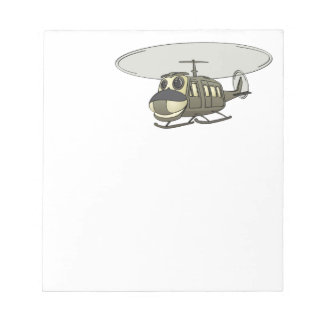 Happy Huey Helicopter Cartoon Scratch Pad
