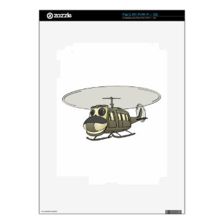 Happy Huey Helicopter Cartoon Skins For The iPad 2
