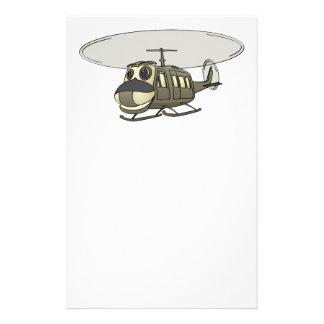 Happy Huey Helicopter Cartoon Stationery