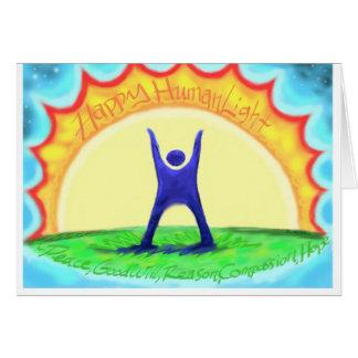 """Happy HumanLight"" Holiday Card"