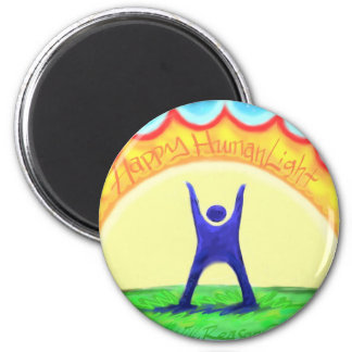 Happy HumanLight.jpg 2 Inch Round Magnet
