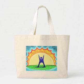 Happy HumanLight.jpg Canvas Bags