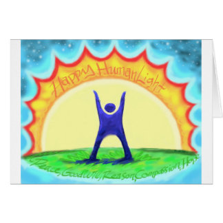Happy HumanLight.jpg Greeting Card