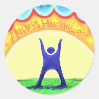 Happy HumanLight.jpg Classic Round Sticker
