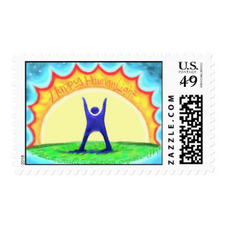 Happy HumanLight Postage Stamp
