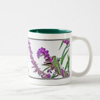 Happy Hummer Two-Tone Coffee Mug