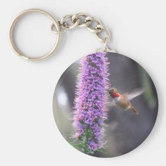 Happy hummingbird keychain