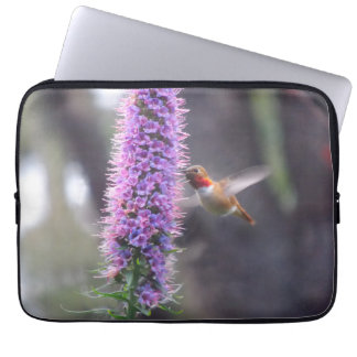 Happy hummingbird laptop computer sleeves