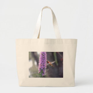 Happy hummingbird large tote bag