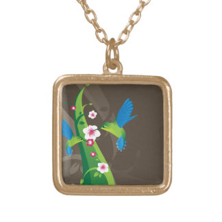 Happy Hummingbirds Gold Plated Necklace
