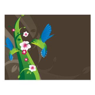 Happy Hummingbirds Postcard