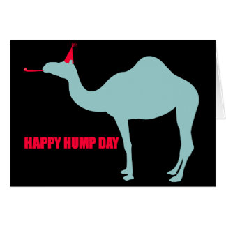 Happy Hump Day Camel Greeting Card