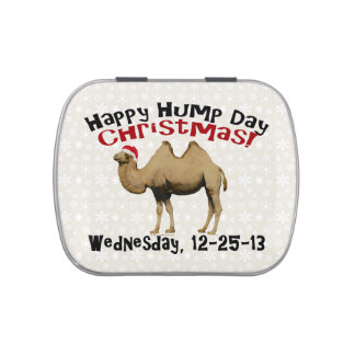 Happy Hump Day Christmas Funny Wednesday Camel Jelly Belly Tin