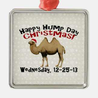 Happy Hump Day Christmas Funny Wednesday Camel Ornaments