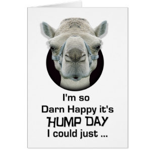 Funny hump day cards greeting photo cards zazzle happy hump day funny camel spit card m4hsunfo