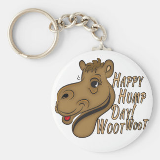 Happy Hump Day Woot Woot Basic Round Button Keychain