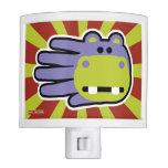 Hand shaped Happy Hungry Purple Hippo Night Lights