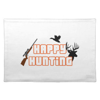 HAPPY HUNTING APPLIQUE CLOTH PLACEMAT