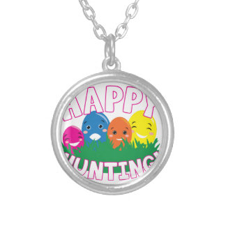 Happy Hunting Round Pendant Necklace