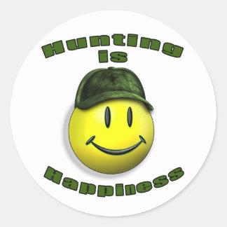 happy hunting sticker