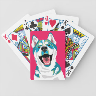 Happy Husky Playing Cards
