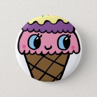 Happy Ice Cream Cone Button
