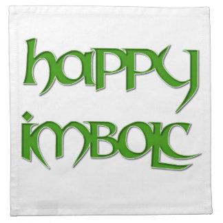 Happy Imbolc Cocktail Napkins (Cloth)