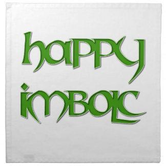Happy Imbolc Dinner Napkin (Cloth)