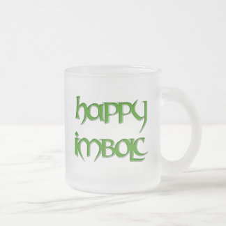 Happy Imbolc Frosted Beer Mug