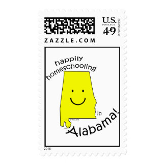 Happy in Alabama Postage Stamps