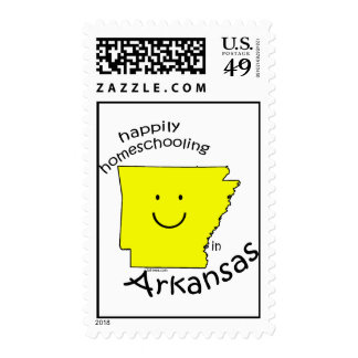 Happy in Arkansas Postage Stamp
