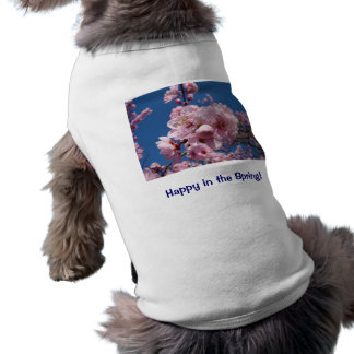 Happy in the Spring! Dog clothes t-shirts Blossoms