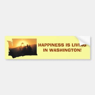 Happy in Washington State Car Bumper Sticker
