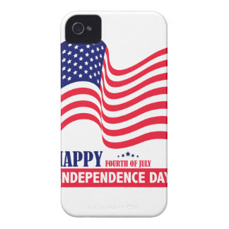 Happy Independence  Day 4 th July American Flag iPhone 4 Case-Mate Case
