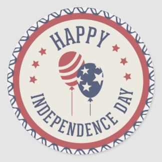 Happy Independence Day 4th Of July 3 Classic Round Sticker