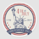 Happy Independence Day 4th Of July 4 Classic Round Sticker