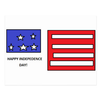 HAPPY INDEPENDENCE DAY - 4th of July Postcard