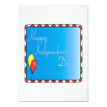 """Happy Independence Day 5"""" X 7"""" Invitation Card"""