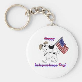 Happy Independence Day! Basic Round Button Keychain