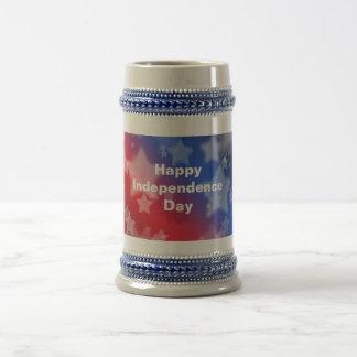 Happy Independence Day Beer Stein Mug