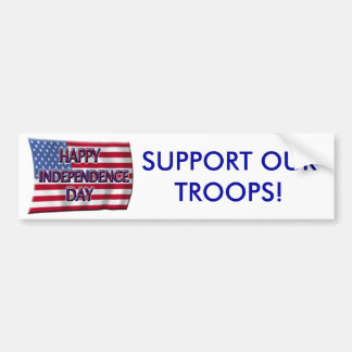 Happy Independence Day Bumper Sticker