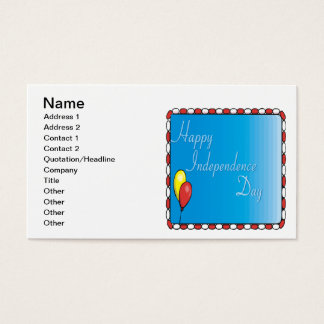 Happy Independence Day Business Card