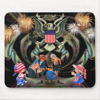 Happy Independence Day Celebration Mouse Pad