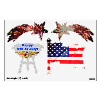 HAPPY INDEPENDENCE DAY decals