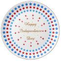 Happy Independence Day Decorative Porcelain Plate (<em>$47.45</em>)