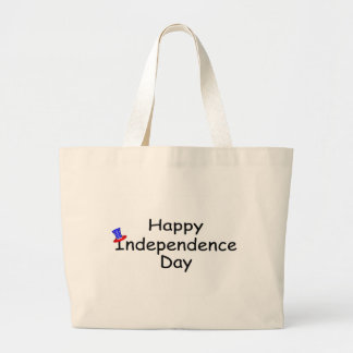 Happy Independence Day July 4 Large Tote Bag